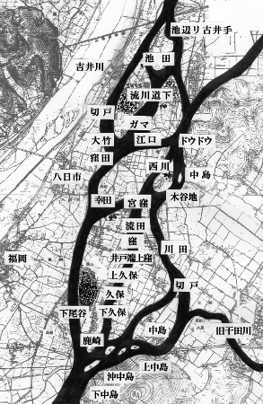 吉井川の分流図