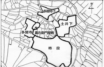 多聞寺地区の関係地名