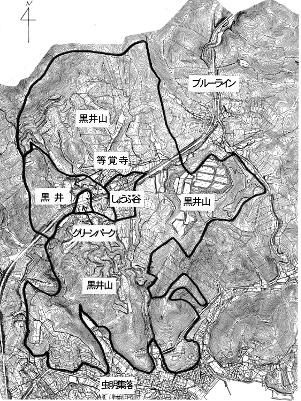 黒井山の地図