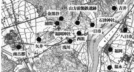 福岡周辺図