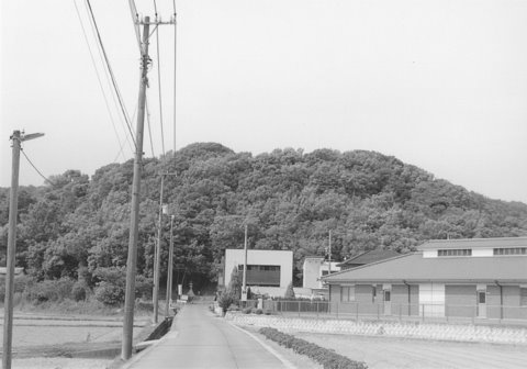 福岡神社が祭られている三笠山